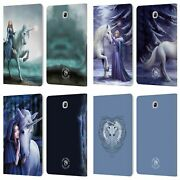 Anne Stokes Unicorns 2 Leather Book Wallet Case Cover For Samsung Galaxy Tablets