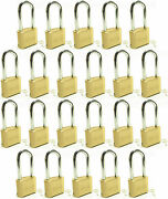 Master Lock Solid Brass 175lh Lot Of 22 Set To Your Own Combination Padlock