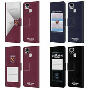 Personalized West Ham United Fc Claret Leather Book Case For Asus Zenfone Phones