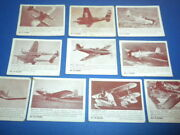 10 Zoom Trading Cards 57-89 Aircraft Army Fighter Planes 1940's/1950's Lot