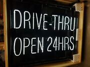 New Neon Drive-thru Open 24 Hours Manufactured By Cnp Signs In San Diego