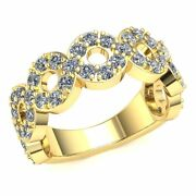 Real 2.1 Ct Round Diamond Ladies Circular Eternity Band With Sizing Bar 14k Gold