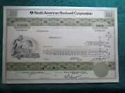 Vintage Stock Certificate North American Rockwell - 100 Common Stock - 1972
