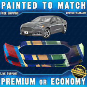 New Painted To Match - Front Bumper For 2013-2016 Ford Fusion W/ Advanced Park