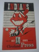 1950 Cleveland Indians Vs White Sox Cleveland Press Official Score Card Scored