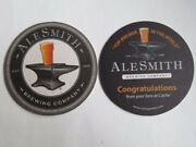 Beer Bar Coaster Alesmith Brewing Co Congratulations From Your Fans At Cache