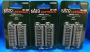 Lot Of 3 - N Scale Kato Unitrack 20-040 Straight Track 62mm - 2 7/16 4pcs/pack