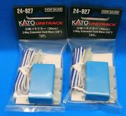 Lot Of 2 Ho/n Scale Kato Unitrack 24-827 3-way Extension Cord-90cm 35 1pc/pk