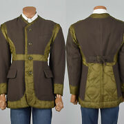 Issey Miyake Military Inspired Quilted Coat Spring Jacket Outerwear Belted Back