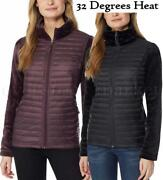 New Womenand039s 32 Degrees Heat Mixed Media Down Jacket With Lux Faux Fur Variety
