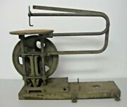 Vintage Scroll Saw Attachment Bench Or Table Top Hand Or Belt Working Condition