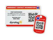 Dynotag Medical And Emergency Contact Information Card Kit - Wallet And Keych...