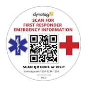 Dynotag Emergency Contact Information Windshield Cling Decal For Vehicle Safety
