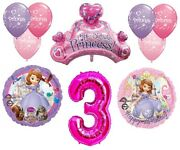 Disney's Sofia The First 3rd Happy Birthday Party Balloons Decorations Supplies