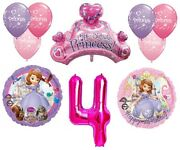 Disney's Sofia The First 4th Happy Birthday Party Balloons Decorations Supplies
