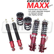 Godspeed Mmxi-7005 Maxx-sport Coilovers Camber Plate Kit For Civic Si 14-15 Fb