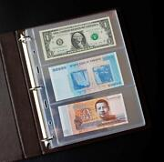 Brand New Paper Money Banknote Stamp Collection Album Book Load 70 Notes Bills