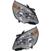 Headlight Set For 2010-2015 Chevrolet Equinox Left And Right Reflector Type 2pc
