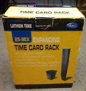 Lathem Time 25-9ex Expandable Time Card Rack 25-pocket Holds 9 Cards New In Box