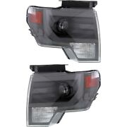 Headlight Set For 2010 2011 2012 2013 2014 Ford F-150 Left And Right Hid 2pc