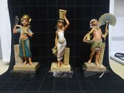 Excellent Condition Egyptian Simonelli Statues No. 121 122 And 124