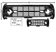 Ford Bronco Grille Without Logo Painted 1969-1977 Dynacorn