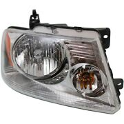 Headlight For 2004-2008 Ford F-150 Right Clear Lens Chrome Interior Halogen