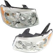 Headlights Headlamps Left And Right Pair Set For 06-09 Pontiac Torrent
