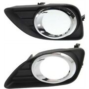 Fog Light Trim Set For 2010-2011 Toyota Camry Left And Right 2pc