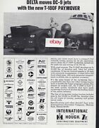 Delta Air Lines Dc-9 Jet 1966 International-hough T-180f Paymover Tractor Ad