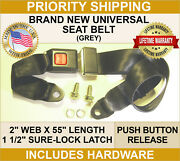 Seat Belts For Your Jeep Amc Willys Nash Universal 2 Point Mounting Black