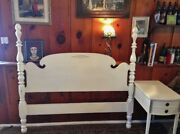 Antique Shabby Chic 4 Poster Full Or Queen Sizedandnbsp Bed Frame