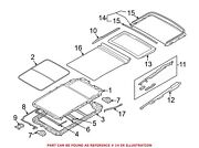 For Bmw Genuine Sunroof Cover Rear 54107288525