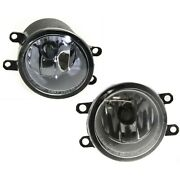 Set Of 2 Clear Lens Fog Light For 2007-14 Toyota Camry Lh And Rh W/ Bulbs