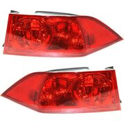New Tail Lights Lamps Set Of 2 Driver And Passenger Side Ac2818105, Ac2819105 Pair