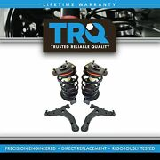 Trq Complete Loaded Strut Spring Control Arm Ball Joint Suspension Kit Set 4pc
