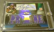 2009 Triple Threads Percy Harvin Auto Jersey Rookie 15