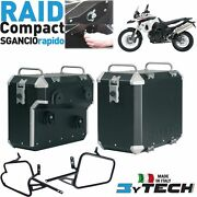 Compact Side Panniers Cases 33+ 39 Lt Quick Release Bmw 800 F Gs K72 And039 09and039/14