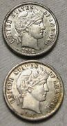 1912 And 1916 Barber Dimes 2 Coins Near Uncirculated