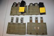 2 Us Military Issue Eagle Ind. Usmc Triple Magazine Shingle Pouch Coyote Brown 2