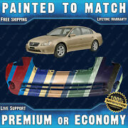 New Painted To Match Front Bumper Cover Rite Fit For 2002-2004 Nissan Altima 4dr