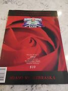 2002 Rose Bowl Program And Poster Miami Hurricanes Mint