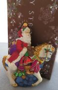 Jay Strongwater Santa On Horse Ornament Elements New In Box