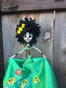 Day Of The Dead Skeleton Paper Mache Doll