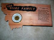 Freehand Router Carved Wood Sign In Montana Shape With Clock.