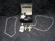 Junk Drawer Jewelry Lot Necklaces Charms Watch Bling Costume Jesus Cross Silver