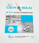 Top Gear K.l.g Spark Plugs Motorcycle Recommendation Chart Accessories Catalog