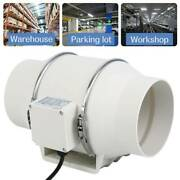 6 Inch Fan Extractor Duct Hydroponic Inline Exhaust Air Cooling Vent 110v