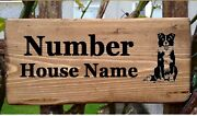Personalised Border Collie Sheepdog House Door Name / Number Plate Sign Plaque.