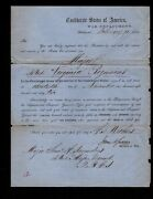 Confederate Military Appointment Samuel Saunders To Major 42nd Virginia Infantry